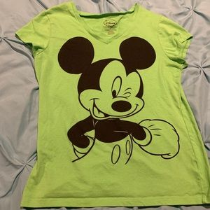 Like Green Mickey Mouse T shirt